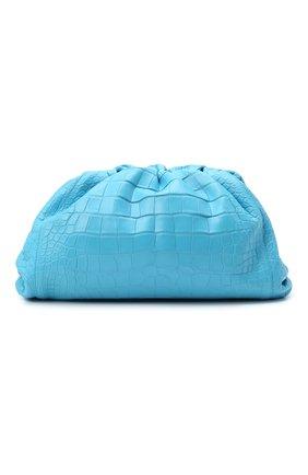 Женский клатч pouch из кожи аллигатора BOTTEGA VENETA голубого цвета, арт. 576227/VCPX0/AMIS   Фото 1
