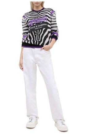Женская хлопковый свитшот DOLCE & GABBANA разноцветного цвета, арт. F9F25T/HS7BR | Фото 2