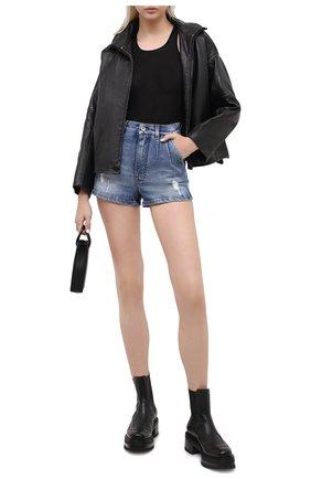Женские джинсовые шорты DOLCE & GABBANA синего цвета, арт. FTBXCD/G8CS6 | Фото 2