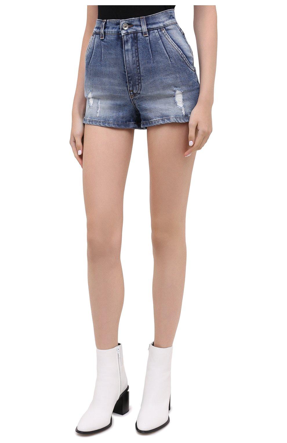 Женские джинсовые шорты DOLCE & GABBANA синего цвета, арт. FTBXCD/G8CS6 | Фото 4