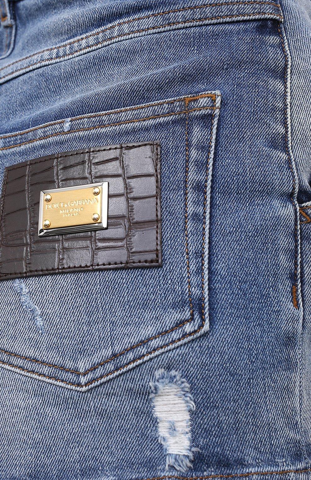 Женские джинсовые шорты DOLCE & GABBANA синего цвета, арт. FTBXCD/G8CS6 | Фото 6