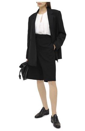 Женская кожаные оксфорды CASADEI черного цвета, арт. 1C184R0201C10069000   Фото 2