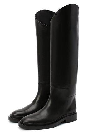 Женские кожаные сапоги JIL SANDER черного цвета, арт. JS35043A-12004 | Фото 1