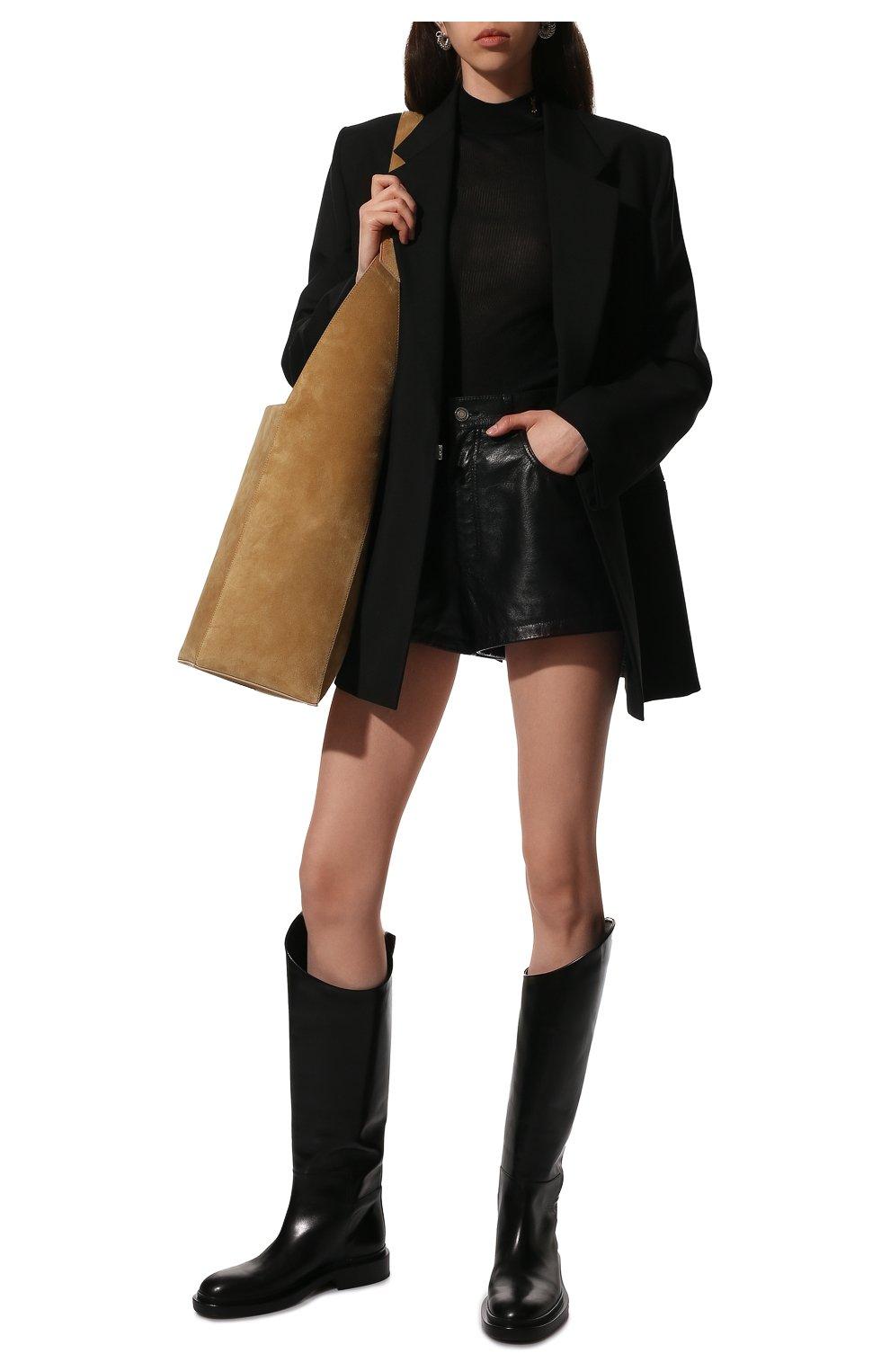 Женские кожаные сапоги JIL SANDER черного цвета, арт. JS35043A-12004 | Фото 2