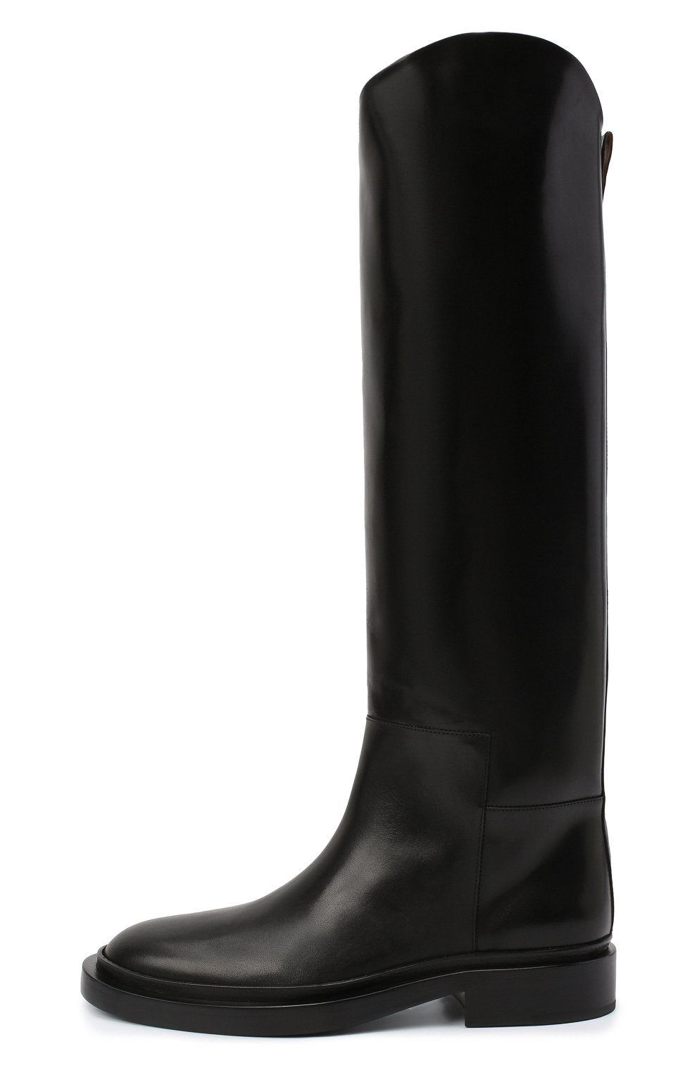 Женские кожаные сапоги JIL SANDER черного цвета, арт. JS35043A-12004 | Фото 4