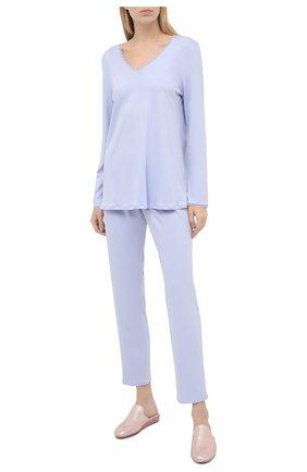 Женская хлопковая пижама HANRO сиреневого цвета, арт. 076792 | Фото 1