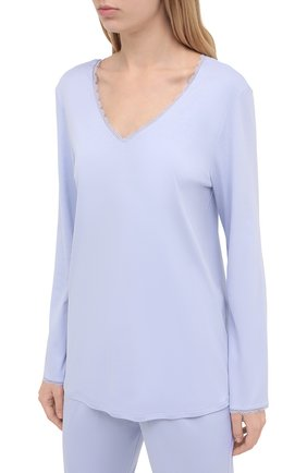 Женская хлопковая пижама HANRO сиреневого цвета, арт. 076792 | Фото 2