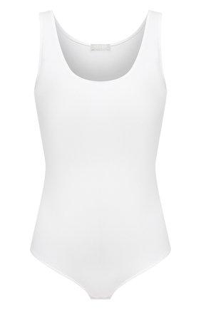 Женское хлопковое боди HANRO белого цвета, арт. 071401 | Фото 1