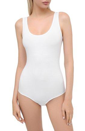 Женское хлопковое боди HANRO белого цвета, арт. 071401 | Фото 2