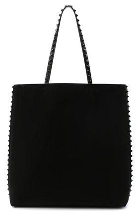 Женский сумка-шопер valentino garavani rockstud VALENTINO черного цвета, арт. UW2B0G99/JJK | Фото 1