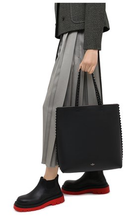 Женский сумка-шопер valentino garavani rockstud VALENTINO черного цвета, арт. UW2B0G99/JJK | Фото 2