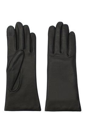 Женские кожаные перчатки AGNELLE черного цвета, арт. INES/A | Фото 2