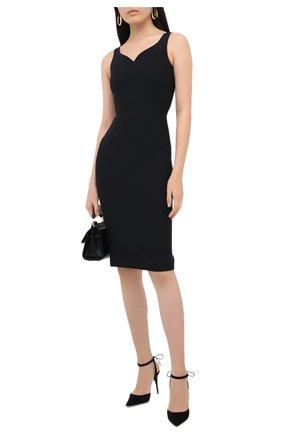 Женское платье ALEXANDER MCQUEEN черного цвета, арт. 627514/QEAAA   Фото 2