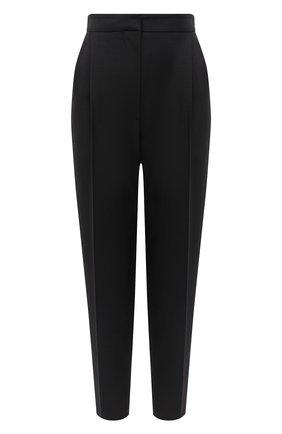 Женские брюки из шерсти и шелка ALEXANDER MCQUEEN черного цвета, арт. 632744/QJAAA | Фото 1