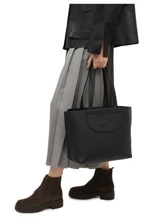 Женский сумка-шопер TOD'S черного цвета, арт. XBWA0LA0300RIA | Фото 2