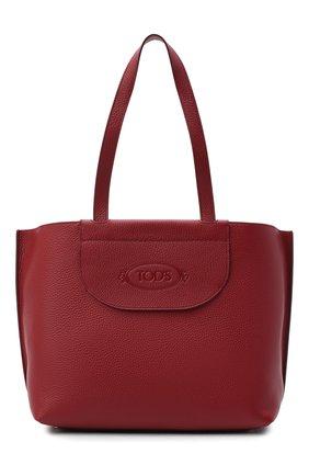 Женский сумка-шопер TOD'S красного цвета, арт. XBWA0LA0300RIA | Фото 1