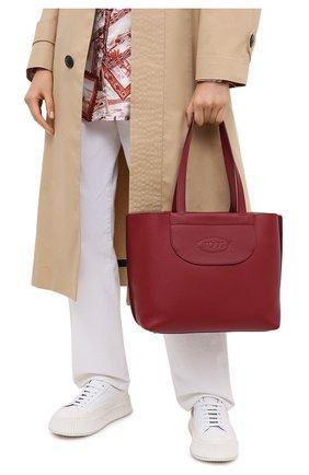 Женский сумка-шопер TOD'S красного цвета, арт. XBWA0LA0300RIA | Фото 2