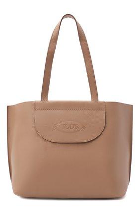 Женский сумка-шопер TOD'S бежевого цвета, арт. XBWA0LA0300RIA | Фото 1