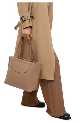 Женский сумка-шопер TOD'S бежевого цвета, арт. XBWA0LA0300RIA | Фото 2