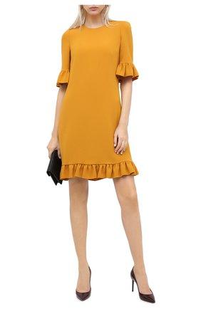 Женская кожаные туфли zoe SAINT LAURENT бордового цвета, арт. 529731/1TV00 | Фото 2