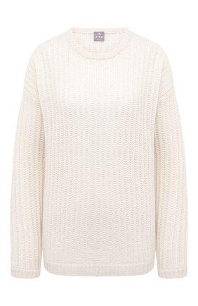 Женский кашемировый свитер FTC белого цвета, арт. 800-0200 | Фото 1