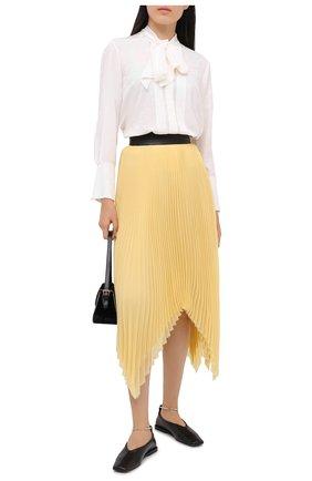 Женская юбка LOEWE желтого цвета, арт. S359344XBP | Фото 2