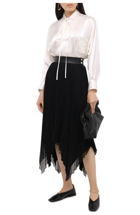 Женская юбка LOEWE черного цвета, арт. S359344XBD | Фото 2