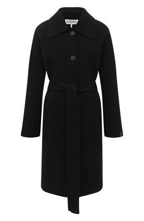 Женское шерстяное пальто LOEWE черного цвета, арт. S359336XB0 | Фото 1