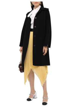 Женское шерстяное пальто LOEWE черного цвета, арт. S359336XB0 | Фото 2