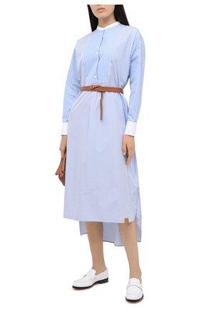 Женское хлопковое платье LOEWE голубого цвета, арт. S359335XC1 | Фото 2