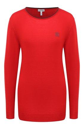 Женский кашемировый пуловер LOEWE красного цвета, арт. S359333XBC | Фото 1