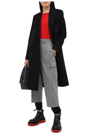Женский кашемировый пуловер LOEWE красного цвета, арт. S359333XBC | Фото 2