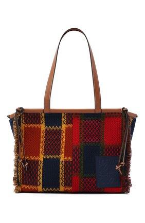 Женский сумка-тоут cushion LOEWE красного цвета, арт. A612B90X10 | Фото 1