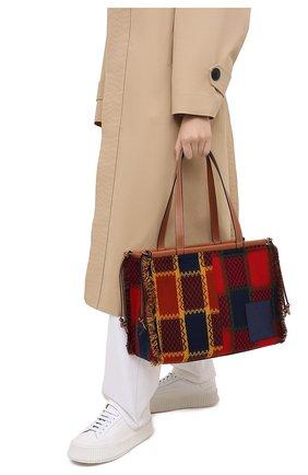Женский сумка-тоут cushion LOEWE красного цвета, арт. A612B90X10 | Фото 2