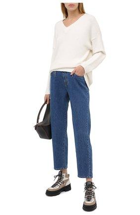 Женские джинсы PIETRO BRUNELLI синего цвета, арт. JP0MUM/DE0096 | Фото 2