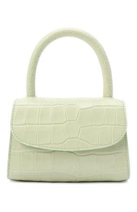 Женская сумка mini BY FAR светло-зеленого цвета, арт. 18FWMINASGDSMA | Фото 1 (Сумки-технические: Сумки через плечо, Сумки top-handle; Материал: Натуральная кожа; Размер: mini; Ремень/цепочка: На ремешке)