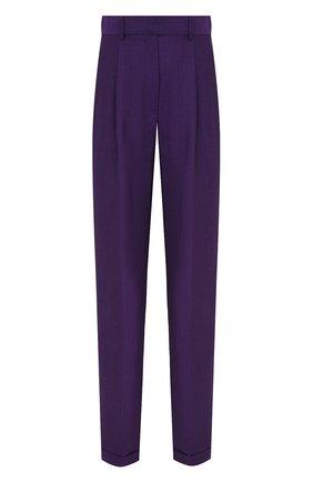 Женские шерстяные брюки VICTORIA BECKHAM фиолетового цвета, арт. 1320WTR001457A | Фото 1