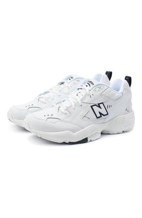 Женские комбинированные кроссовки 608 NEW BALANCE белого цвета, арт. MX608WT/D   Фото 1