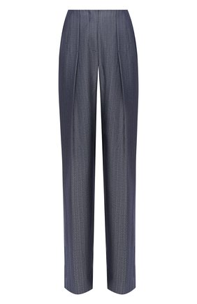 Женские шерстяные брюки GIORGIO ARMANI серого цвета, арт. 0WHPP0DG/T01W1 | Фото 1 (Материал внешний: Шерсть; Женское Кросс-КТ: Брюки-одежда; Силуэт Ж (брюки и джинсы): Широкие; Случай: Формальный; Стили: Классический; Длина (брюки, джинсы): Стандартные)