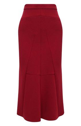 Женская шерстяная юбка GIORGIO ARMANI красного цвета, арт. 0WHNN040/T01V3 | Фото 1