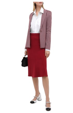 Женская шерстяная юбка GIORGIO ARMANI красного цвета, арт. 0WHNN040/T01V3 | Фото 2