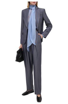 Женский шерстяной жакет GIORGIO ARMANI синего цвета, арт. 0WHGG0H0/T01W1 | Фото 2