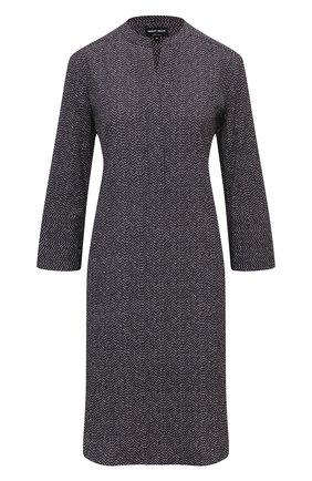Женское платье из хлопка и шелка GIORGIO ARMANI серого цвета, арт. 0WHCCZ83/TZ648 | Фото 1