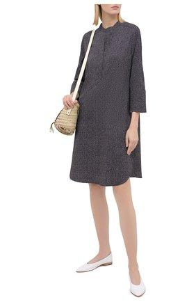 Женское платье из хлопка и шелка GIORGIO ARMANI серого цвета, арт. 0WHCCZ83/TZ648 | Фото 2