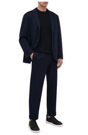 Мужские комбинированные кеды ZEGNA COUTURE черного цвета, арт. A4666X-LHG0M | Фото 2