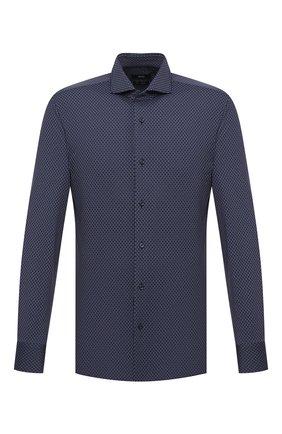Мужская рубашка BOSS темно-синего цвета, арт. 50439972   Фото 1