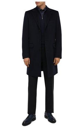 Мужская рубашка BOSS темно-синего цвета, арт. 50439972   Фото 2