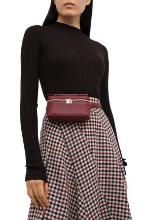Женская поясная сумка extra pocket l16 LORO PIANA бордового цвета, арт. FAI8396 | Фото 2