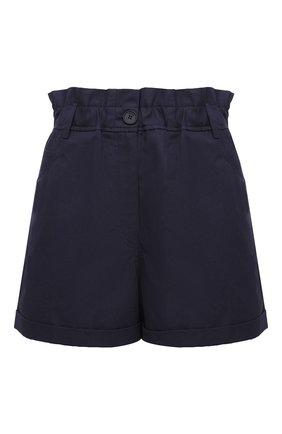 Женские хлопковые шорты KENZO синего цвета, арт. FA62SH0535AG | Фото 1 (Материал внешний: Хлопок; Длина Ж (юбки, платья, шорты): Мини; Женское Кросс-КТ: Шорты-одежда; Стили: Кэжуэл)