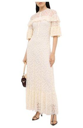 Женское платье-макси PHILOSOPHY DI LORENZO SERAFINI кремвого цвета, арт. A0423/5727 | Фото 2
